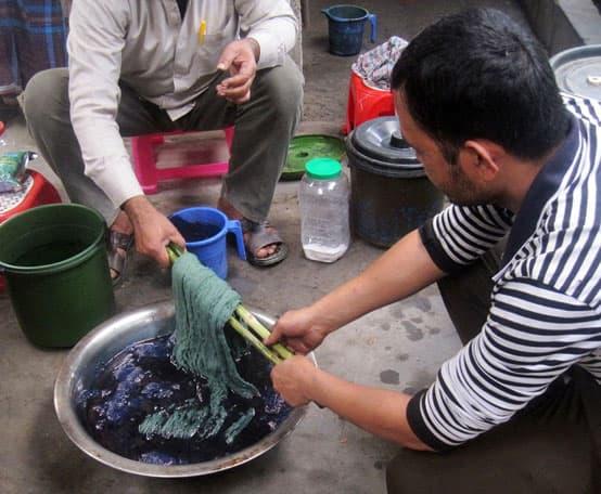 dyeing indigo jute tangail bangladesh