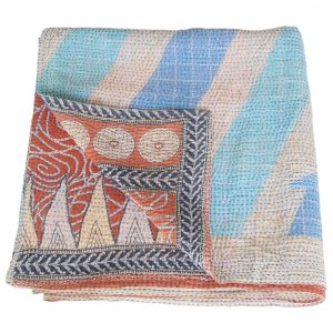 blanket cotton sari kantha papiya fair trade india