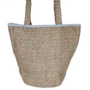 jute bag stone blue diamond fair trade bangladesh