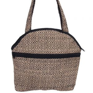 jute bag black diamond ethical handwoven
