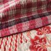 kantha sari deken phula handgemaakt