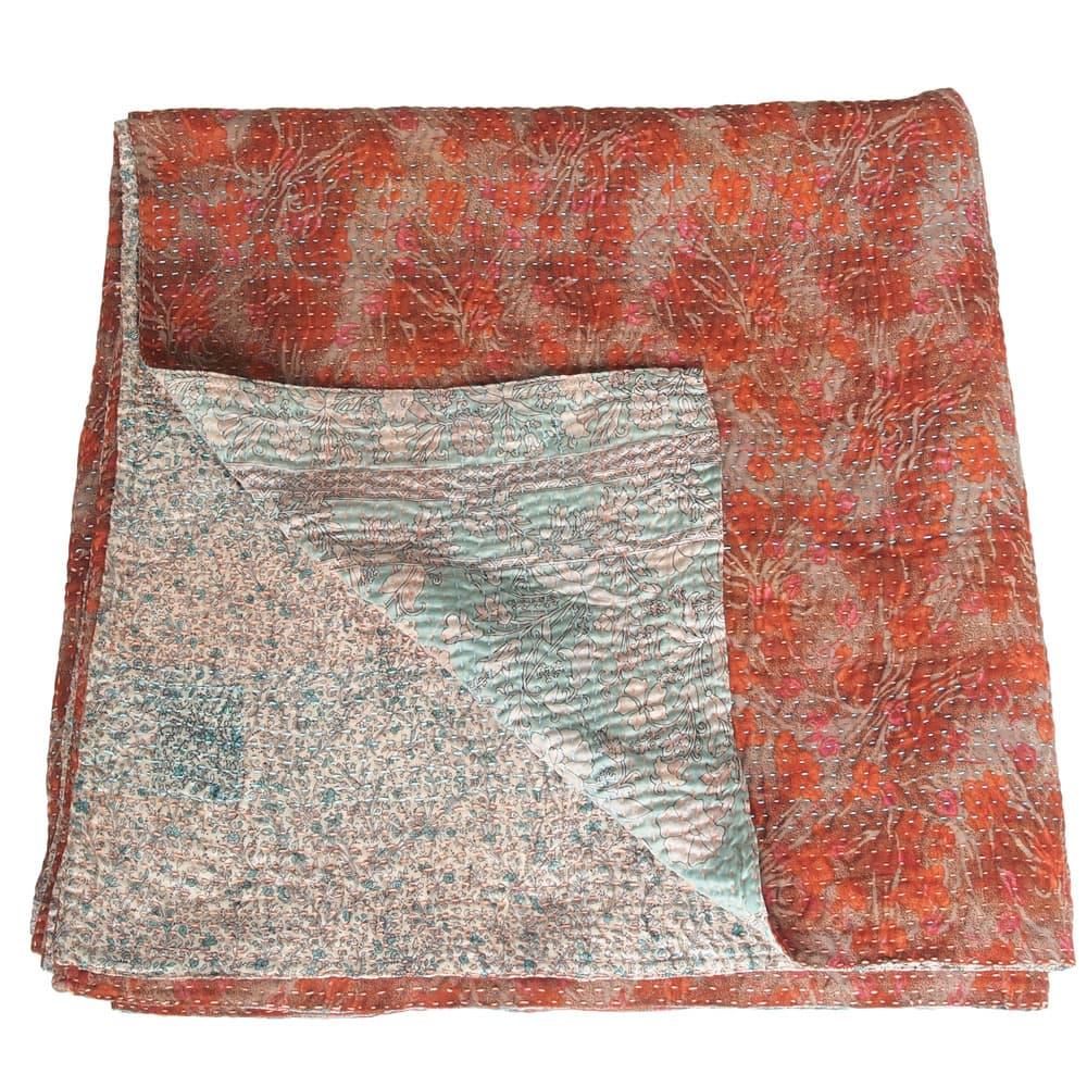 kantha zijden sari deken akasa fairtrade