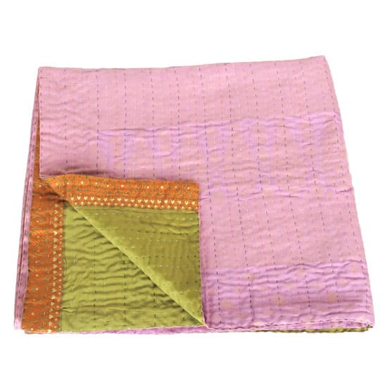 kantha zijden sari deken lebu fairtrade bangladesh