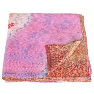 kantha zijden sari deken sakura fairtrade