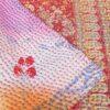 kantha zijden sari deken sakura handgemaakt