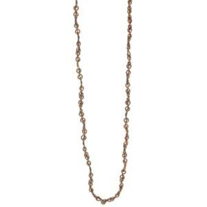 handmade necklace brass sari silk ethical jewellery