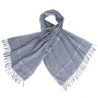 houndstooth indigo scarf khadi organic cotton fair fashion