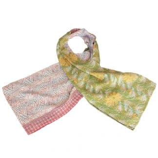 scarf cotton sari kantha licu ethical fashion