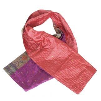 scarf silk sari kantha takta fair trade bangladesh