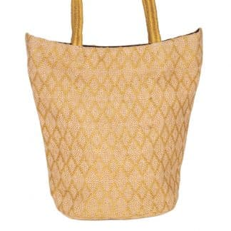 ethical tote bag jute noor ochre yellow