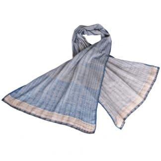 wilde tussar zijde khadi sjaal handgeweven dhuma