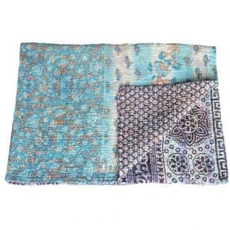 baby blanket kantha sari cotton misti baby quilt