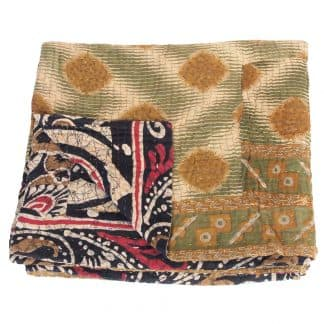blanket cotton sari kantha chopa fair trade bangladesh