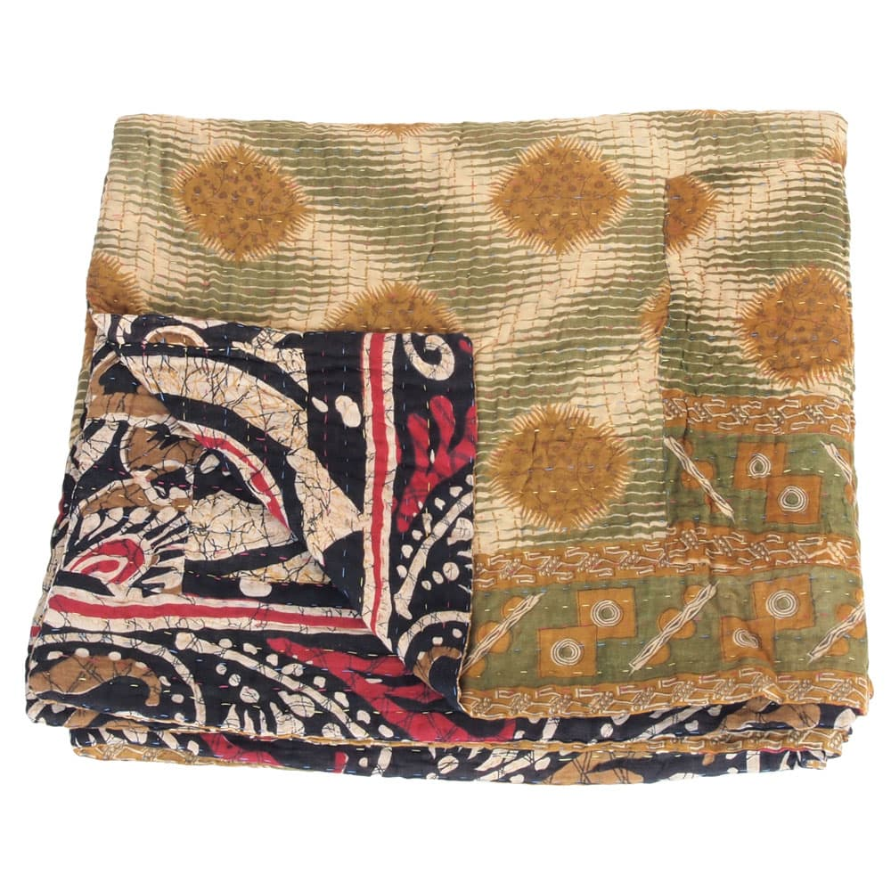 blanket cotton sari kantha chopa fair trade bangladesh