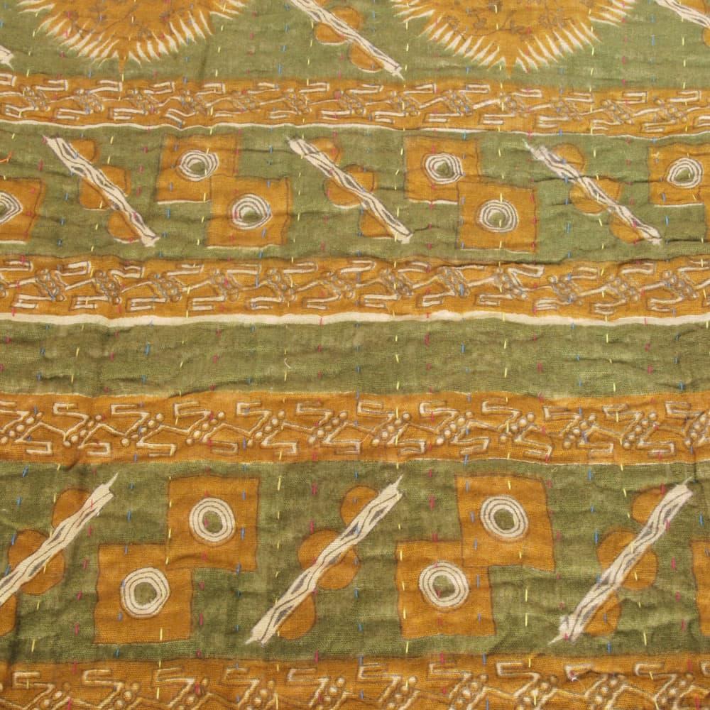 Cotton Sari Kantha Blanket Big Chopa Tulsi Crafts
