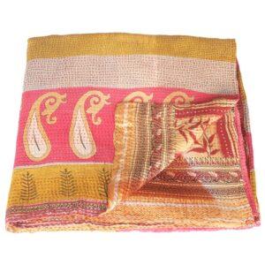 blanket cotton sari kantha paya fair trade india