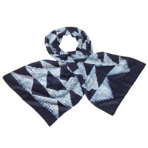 shibori sjaal indigo eri zijde triangle fair trade bangladesh