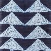 indigo shibori scarf silk triangle fair trade bangladesh