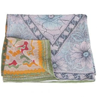 kantha sari blanket cotton ita ethical