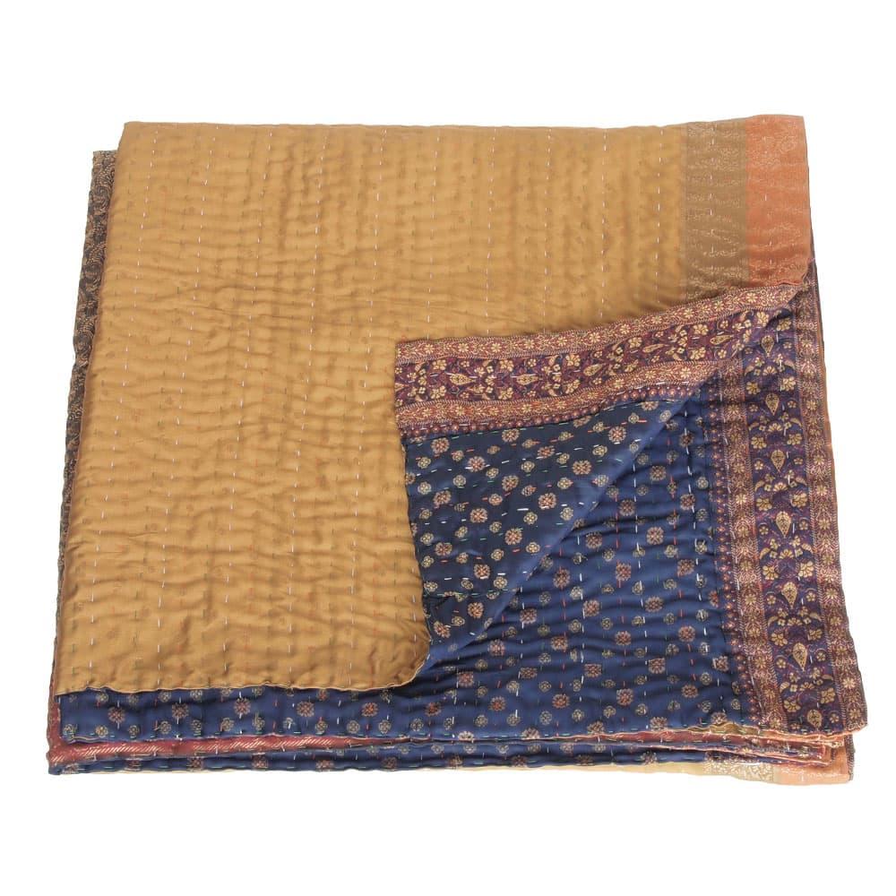 kantha zijden sari deken mukta fair trade bangladesh