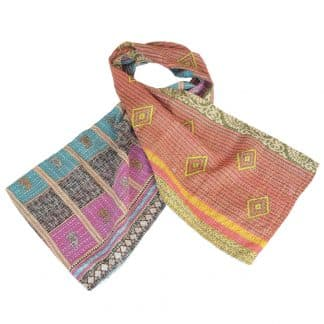 scarf cotton sari kantha kala ethical fashion