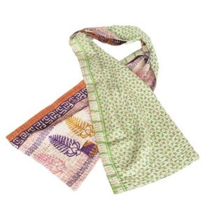 kantha sari scarf cotton lala handmade fashion
