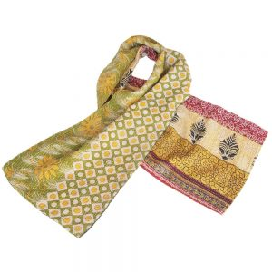 scarf cotton sari kantha pempe ethical fashion
