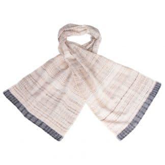 handgemaakte sjaal wilde tussar zijde khadi rani eerlijke mode
