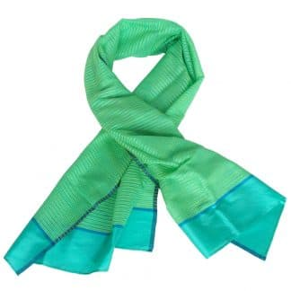 silk scarf handwoven india narcissus fair fashion