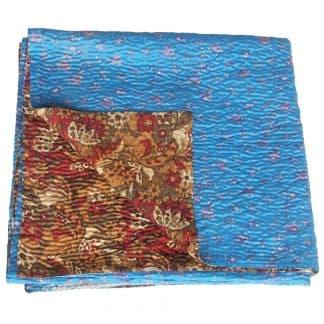silk sari quilt kantha nati blanket