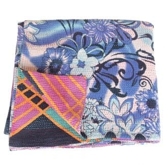 kantha sari deken katoen ata fair trade plaid