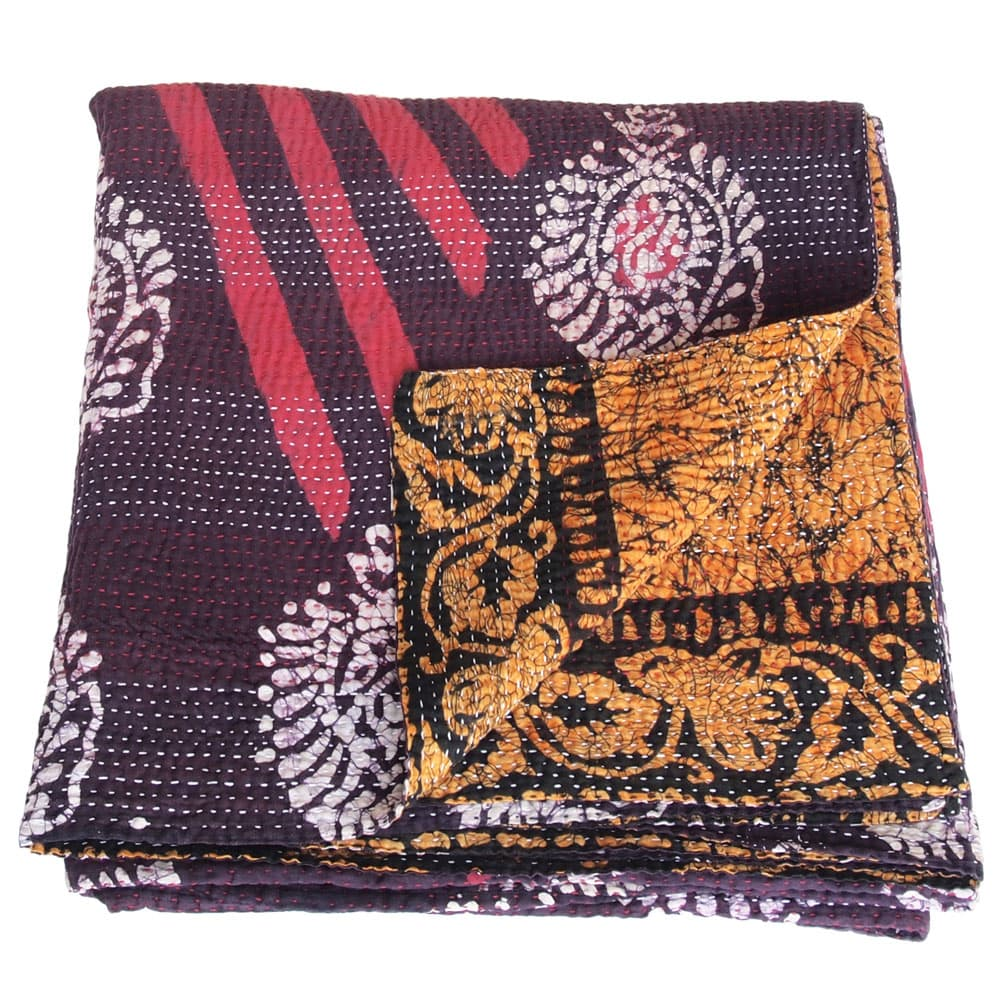 kantha sari deken katoen phandi fair trade india