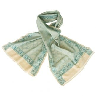 nakshi kantha scarf tussar silk tata handmade