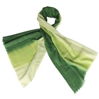 merino wool scarf green fair fashion