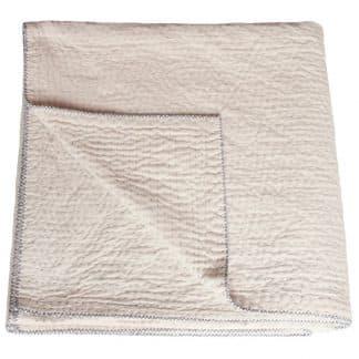 natural kantha bedspread minimal