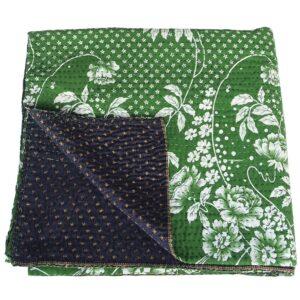kantha sari deken zijde lobhi india