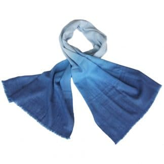 woollen scarf blue ethical trade