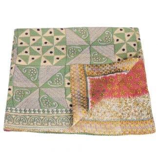 kantha sari bedspread pata