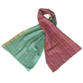 kantha scarf silk phuksi ethical fashion
