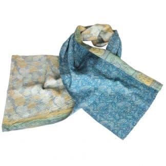silk sari scarf udaya ethical