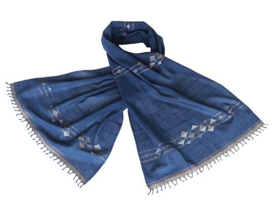jamdani scarf tulsi crafts
