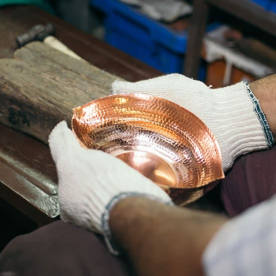 handmade copper work interior accessories