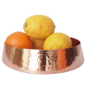 koperen schaal ghanta fruitschaal