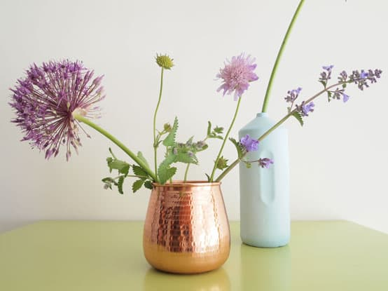 copper vase design home accessories