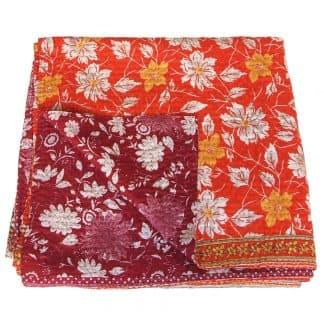 kantha sari bedcover silk ksamata fair trade