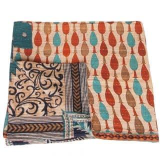 mini kantha blanket naga soft quilt