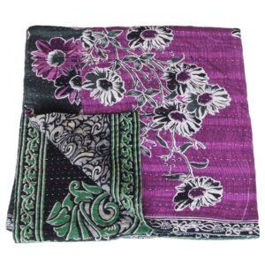 blanket recycled sari kantha beguni