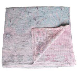 kantha bedspread pata sari blanket