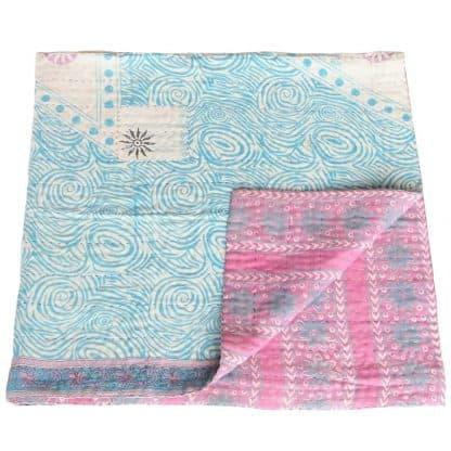 mini kantha bedspread jony ethical trade