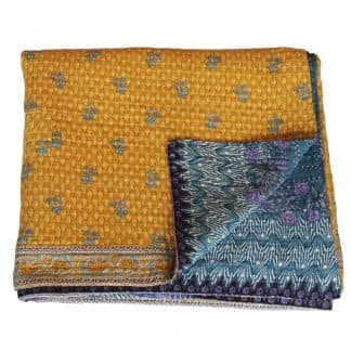 sari bedspread cotton farzana bedcover